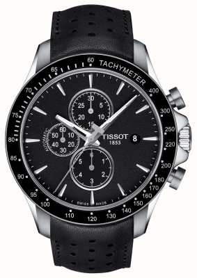 Tissot Mens V8 Swissmatic Chronograph Black Dial Black Leather T1064271605100