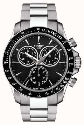 Tissot Mens V8 Quartz Chronograph Stainless Steel Black Dial T1064171105100