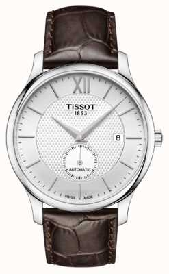Tissot Men's Tradition Automatic Small Second Dial Brown Leather T0634281603800
