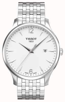 Tissot Mens Tradition Stainless Steel Bracelet Silver Dial T0636101103700