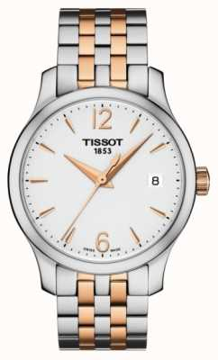 Tissot Womens Tradition Rose Gold Plated Stainless Steel Bracelet T0632102203701