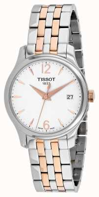 Tissot Women's Tradition Rose Gold Plated Stainless Steel Bracelet T0632102203701