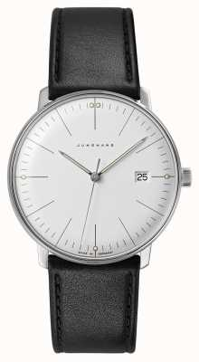 Junghans Max Bill Quartz | Black Leather Strap 041/4817.04