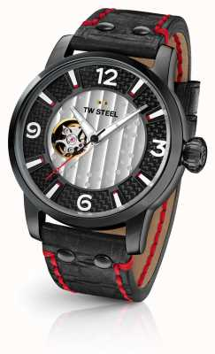 TW Steel Son Of Time Supremo Limited Edition Black Leather Strap TWMST6