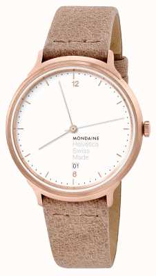 Mondaine Unisex Helvetica No.1 Light Beige Leather MH1.L2211.LG