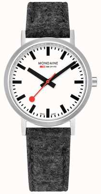 Mondaine Mens Classic Felt Leather Strap Watch A660.30314.16SBH