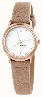 Mondaine Womens Helvetica No 1 Light Watch Beige Leather MH1.L1111.LG