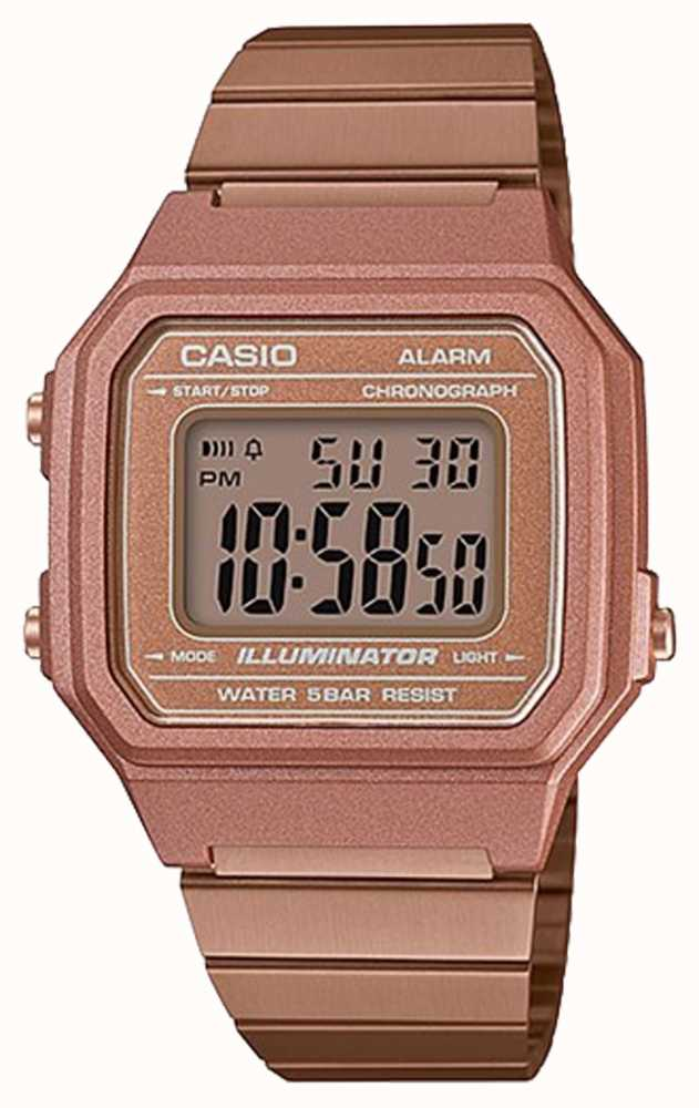61c7ce094da Casio Vintage Core Classic Digital Illuminator Rose Gold B650WC-5AEF ...
