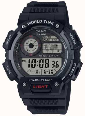 Casio Classic World Time Alarm Chronograp AE-1400WH-1AVEF