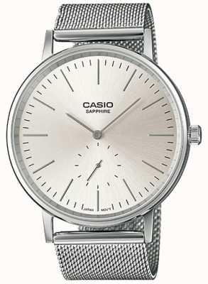 Casio Sapphire Stainless Steel Mesh Bracelet LTP-E148M-7AEF