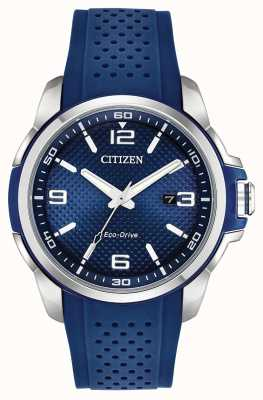 Citizen AR  Blue Resin Date Display Stainless Steel Case AW1158-05L