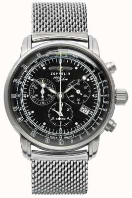 Zeppelin | Series 100 Years | Chronograph Date | Steel Mesh | 7680M-2