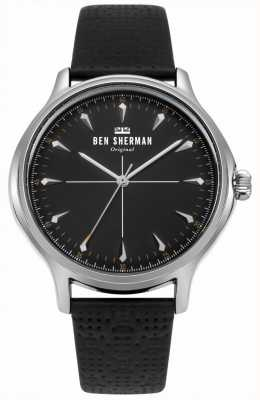 Ben Sherman Matte Black Dial And Black Leather Strap WB018B
