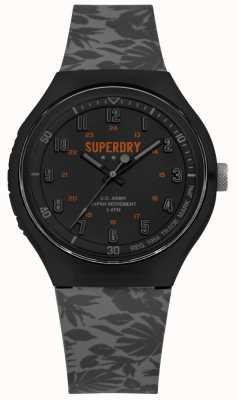 Superdry Urban XL  Tropic Camo Grey Silicone Strap