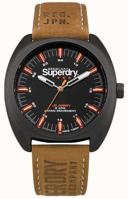 Superdry Scount Infantry Brown Leather Strap SYG228TB