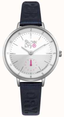 Superdry Ladies Ascott Seconds Sub Dial Stainless Steel Blue Leather SYL159U