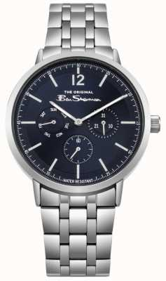 Ben Sherman Blue Dial Day & Date Display Stainless Steel Bracelet BS011USM