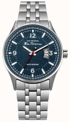 Ben Sherman Blue Dial Date Display Stainless Steel BS008USM