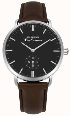 Ben Sherman Black Dial Seconds Sub Dial Brown Leather Strap BS009BBR