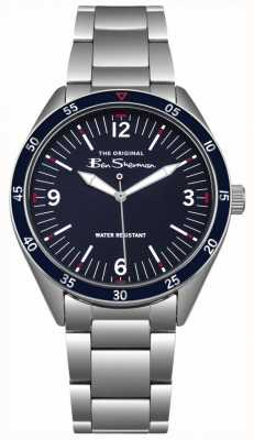 Ben Sherman Navy Blue Dial Silver Stainless Steel Case & Bracelet BS007USM