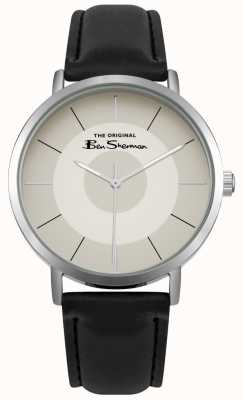 Ben Sherman Cream Multishade Dial Stainless Steel Case Black Leather BS014WB