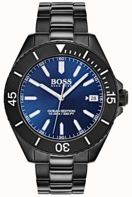 Hugo Boss Ocean Edition Blue Dial Date Display Black IP Bracelet 1513559