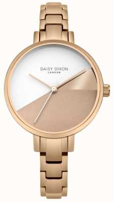Daisy Dixon Ladies Ava Rose Gold Three Colour Dial Rose Gold Bracelet DD065RGM