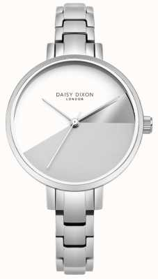 Daisy Dixon Ladies Ava Silver Three Colour Dial Silver Steel Bracelet DD065SM