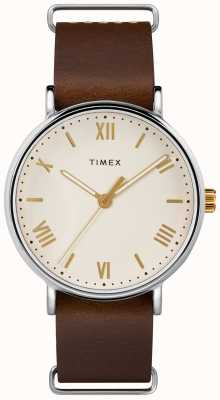 Timex Mens 41mm Southview Brown Leather Strap TW2R80400D7PF