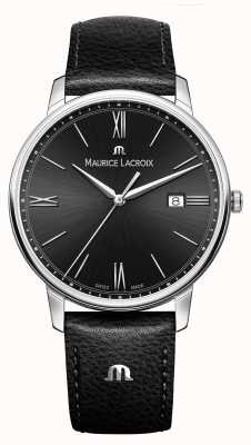 Maurice Lacroix Men's Eliros Black Leather Strap Black Dial EL1118-SS001-310-1