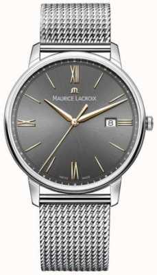 Maurice Lacroix Mens Eliros Mesh Bracelet Black Dial Gold Accents EL1118-SS002-311-1