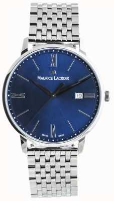 Maurice Lacroix Eliros Mens Blue Dial Stainless Steel Bracelet EL1118-SS002-410-2