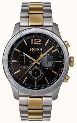 Boss Mens Professional Chronograph Watch Two Tone Bracelet 1513529
