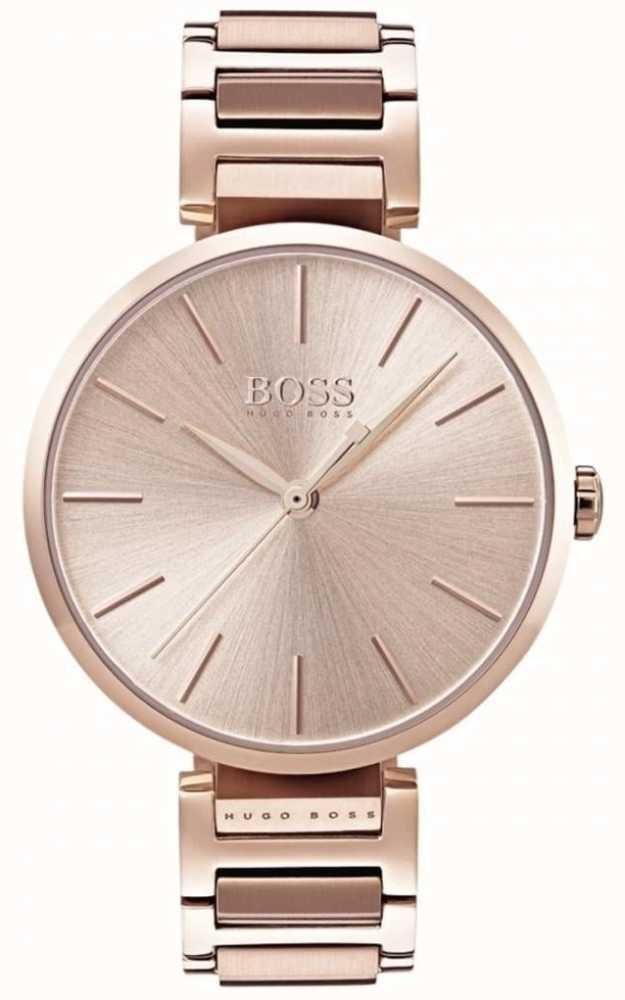 96c85172e6121 Hugo Boss Womens Allusion Watch Rose Gold Tone 1502418 - First Class ...