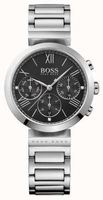 Hugo Boss Womens Classic Sport Watch Black Dial 1502398