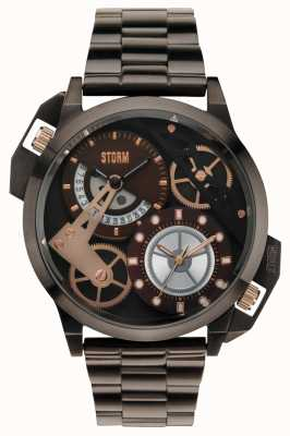 STORM Dualon Brown Dual Time IP Bracelet 47135/BR