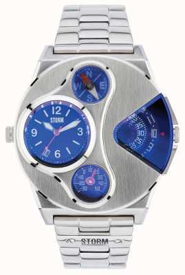 STORM V2 Navigator Lazer Blue Dual Time Stainless Steel 47246/B