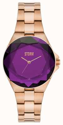STORM Crystana Rose Gold Purple IP Bracelet 47254/P