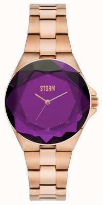 STORM Crystana Rose Gold Purple IP Bracelet 47254/P