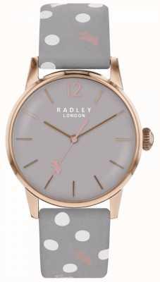 Radley Womens Vintage Dog Dot Watch Grey Dial RY2564