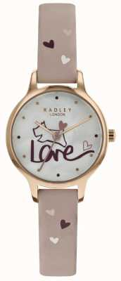 Radley Womens Love Watch Leather Strap Rose Plated RY2576