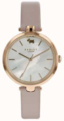 Radley Womens St Dunstans Nude Leather Watch RY2552