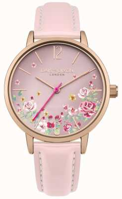 Daisy Dixon Womens Pink Leather Strap Pink Floral Dial DD073PRG