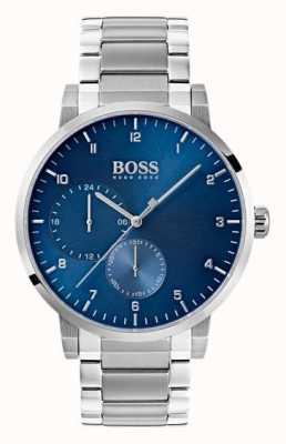 Hugo Boss Mens Oxygen Blue Watch Stainless Steel Bracelet Sunray Dial 1513597