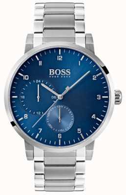 Boss Mens Oxygen Blue Watch Stainless Steel Bracelet Sunray Dial 1513597