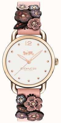 Coach Womens Delancey Pink Leather Flower Strap 14502817