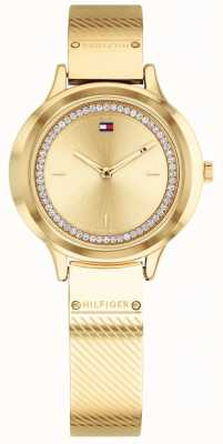 Tommy Hilfiger Womens Olivia Gold Tone Watch 1781910