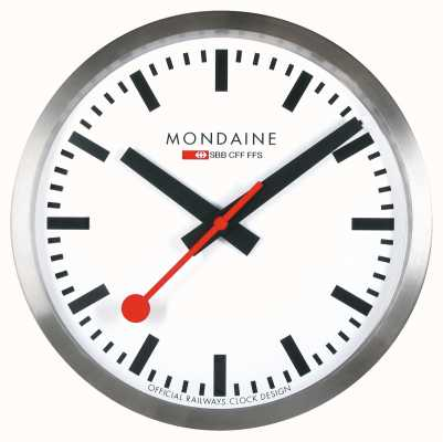 Mondaine Stop2Go Smart Wall Clock White Dial MSM.25S10