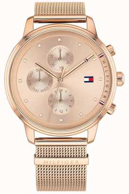 Tommy Hilfiger Blake | Rose Gold PVD Mesh | Rose Gold Dial 1781907