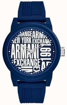 Armani Exchange Mens Atlc Silicone Strap AX1444